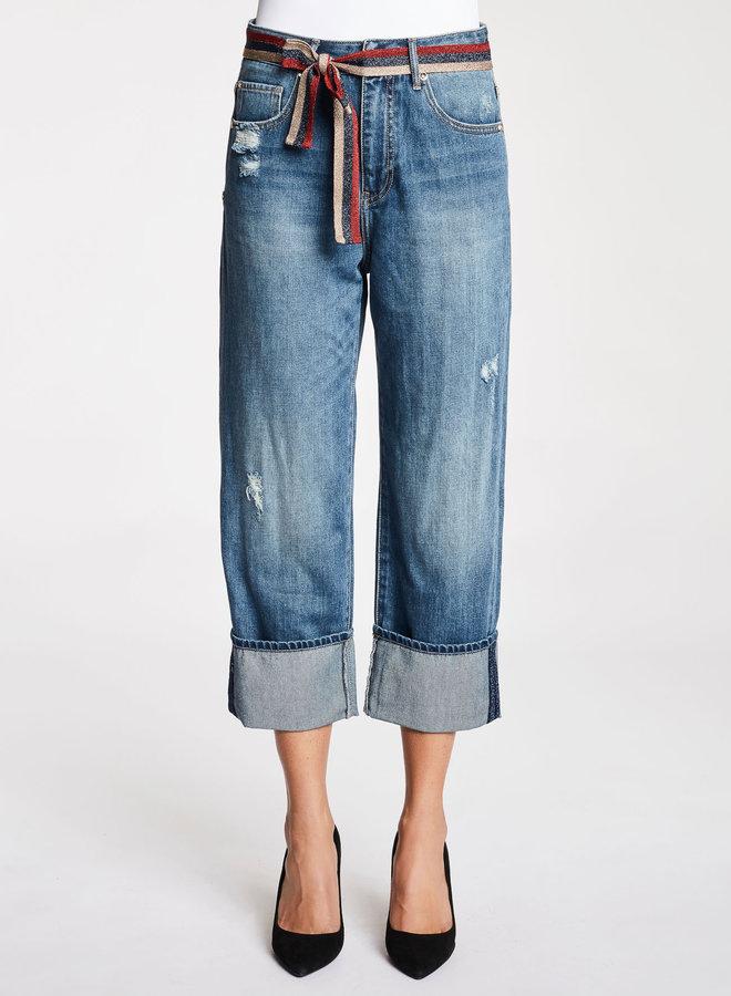 Jeans met glitter riem - Gaudi