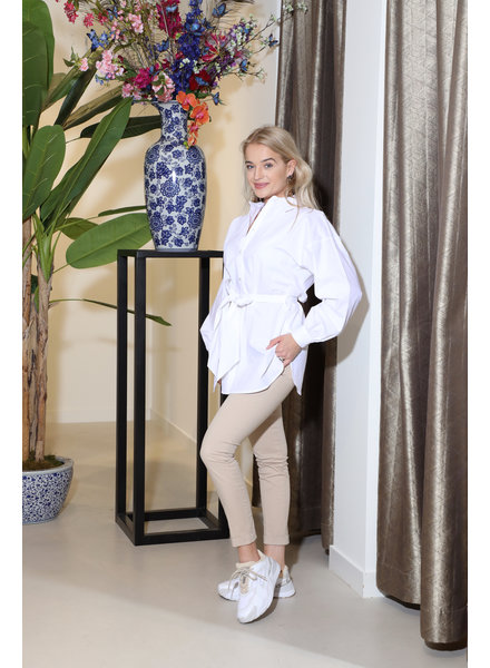 Fracomina Blouse met taille band