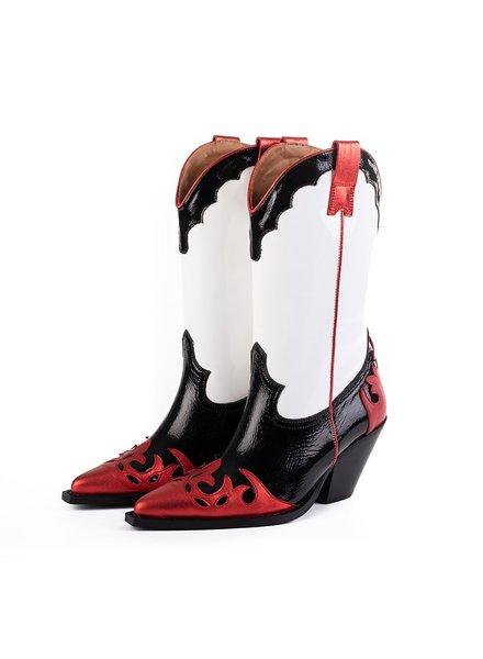Toral Metallic Boots Lak