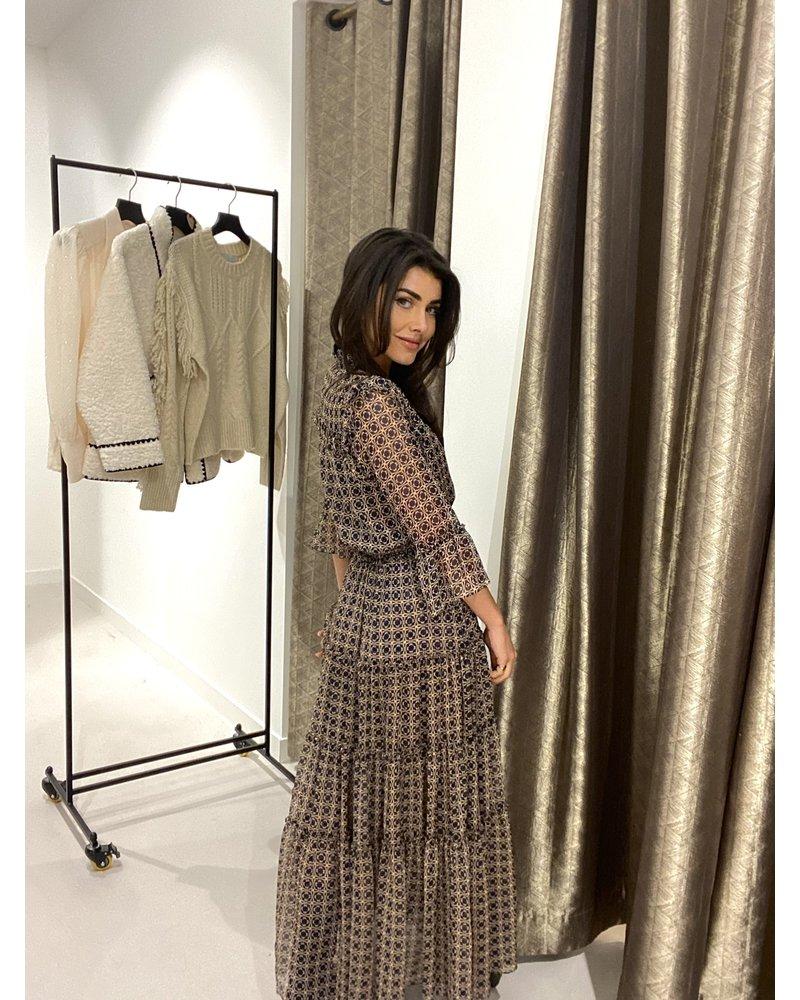 MISA Lange jurk Pamelina