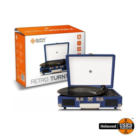Dutch Originals Retro Turntable Blue | Nieuw