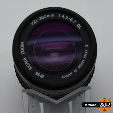 Sigma 100-300 1:4.5-6.7 DL Objectief | Nette Staat