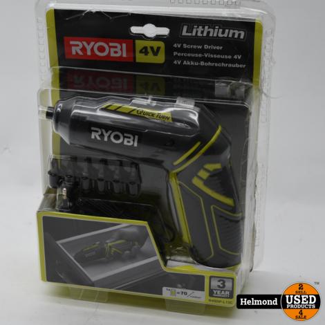 Ryobi 4V R4SDP-L13C Screw Driver electrische schroevendraaier | In Nette Staat