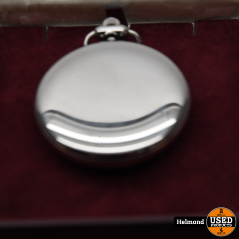 Monte 17 JEWELS zakhorloge met zilveren ketting | In Nette Staat