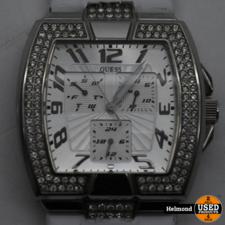 Guess Guess Silver met Steentjes Horloge | Gebruikt