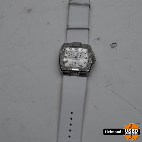 Guess Silver met Steentjes Horloge | Gebruikt