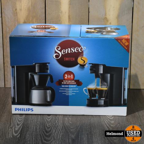 Philips Senseo HD6592 Switch 2-1 filter en Pads koffiezetapparaat   Nieuw in doos