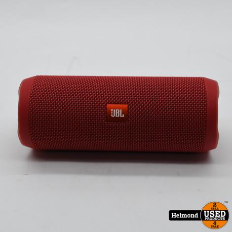 JBL Flip 4 Bluetooth Speaker Rood   In Nette Staat