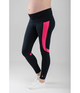 FittaMamma Sportlegging roze/zwart