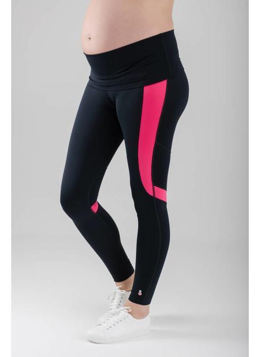 FittaMamma Sportlegging roze/zwart