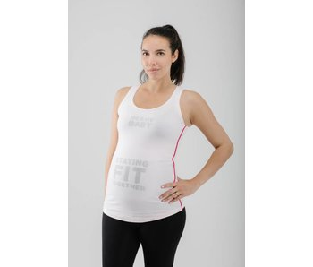 FittaMamma Top 'Staying fit together' roze