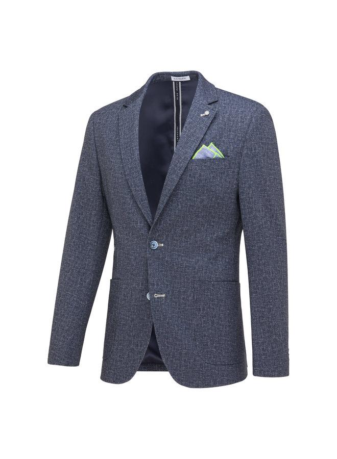 Uni Grijs - Blauw Structuur Knitted