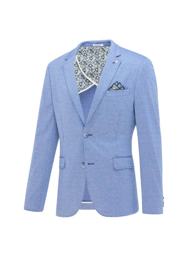 Uni Licht - Blauw Structuur Knitted