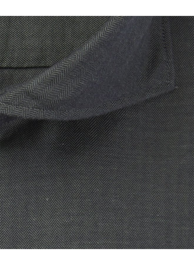 Uni Donker - Groen Visgraat Soft Constructed