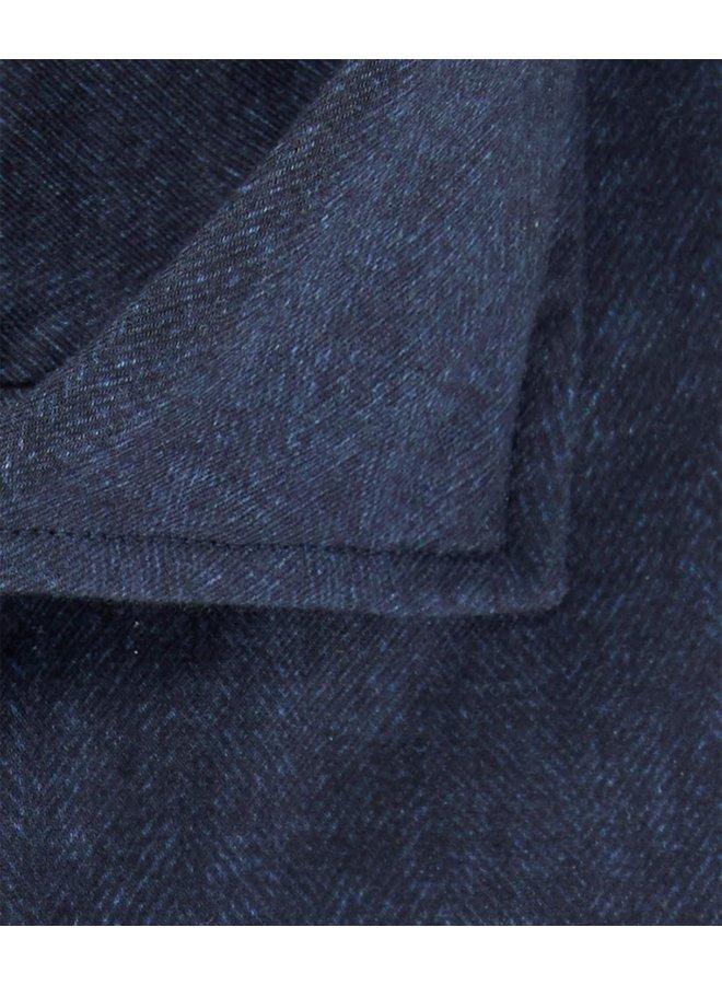 Visgraat Navy - Blauw Soft Constructed