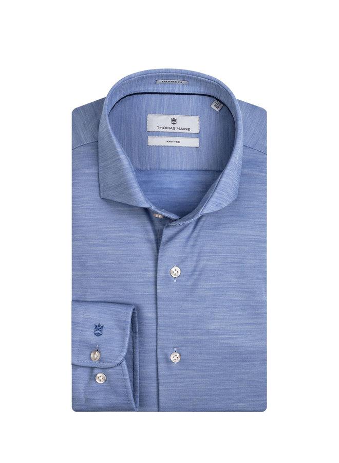 Uni Licht - Blauw Merino Wol Knitted