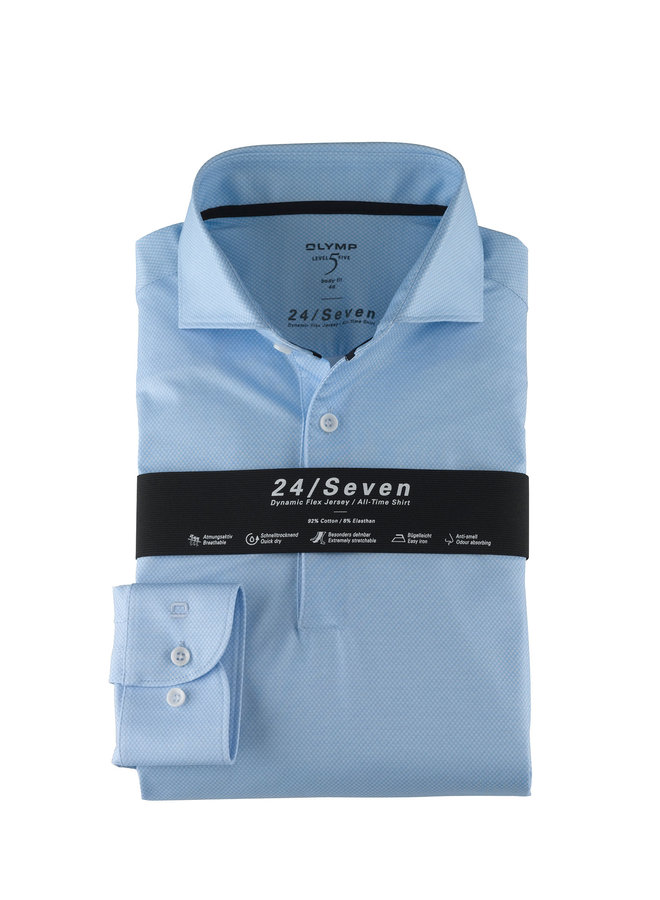 Uni Licht - Blauw Knitted 24 / Seven Body - Fit