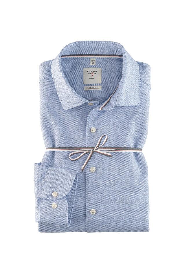 Uni Licht - Blauw Melange Knitted Body Fit