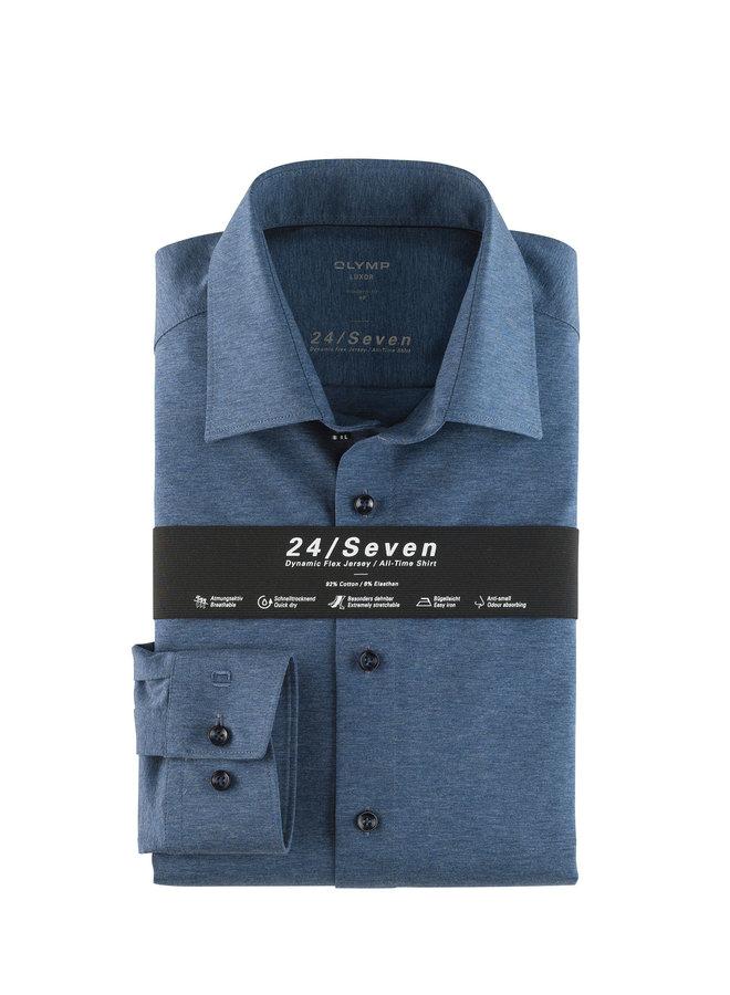 Uni Midden - Blauw 24 / Seven Modern - Fit Knitted