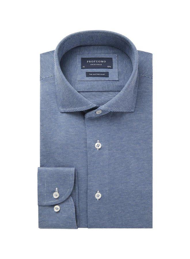 Uni Jeans - Blauw V - Structuur Jersey