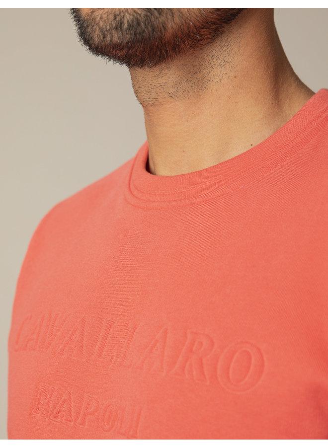 Uni Koraal - Rood Sweat Logo Cavallaro
