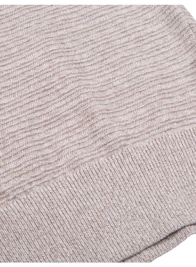 Uni Beige Melange - Structuur Cardigan