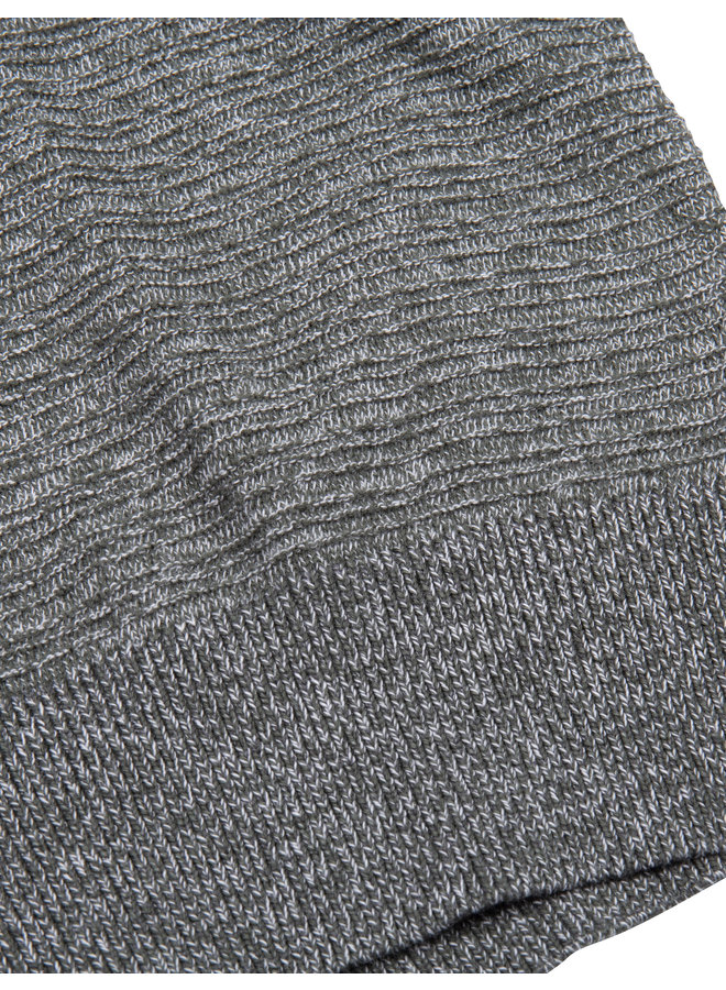 Uni Groen Melange - Structuur Cardigan