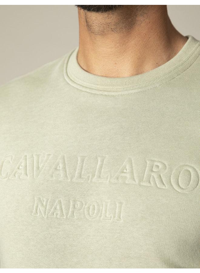 Uni Groen Sweat Logo Cavallaro