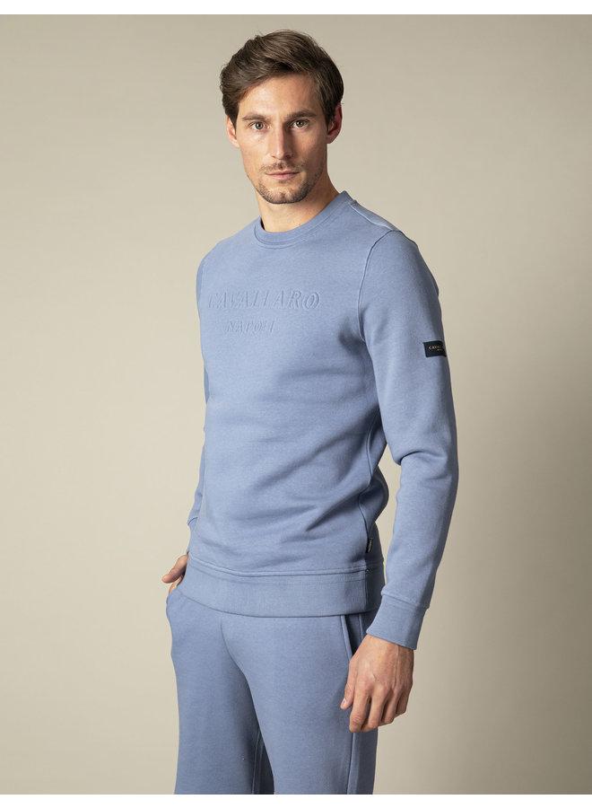 Uni Midden - Blauw Sweat Logo Cavallaro