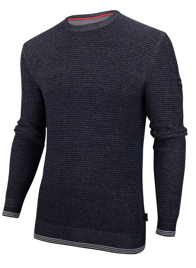 Uni Donker - Blauw Structuur Pullover