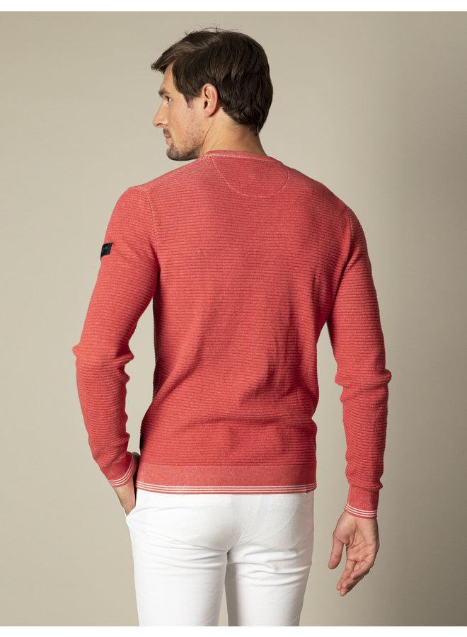 Uni Koraal - Rood Structuur Pullover