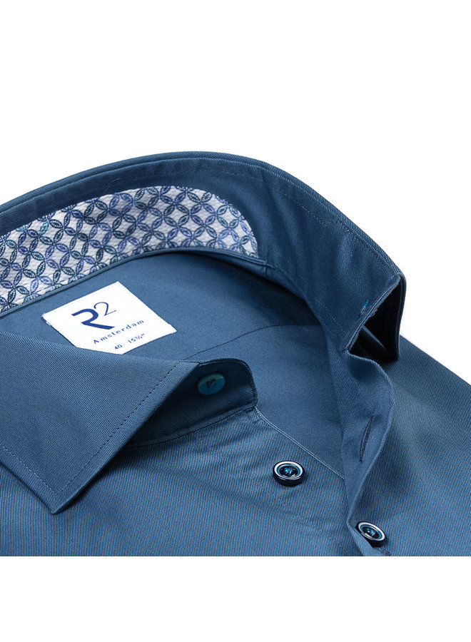 Uni Midden - Blauw Kraag Detail Aqua