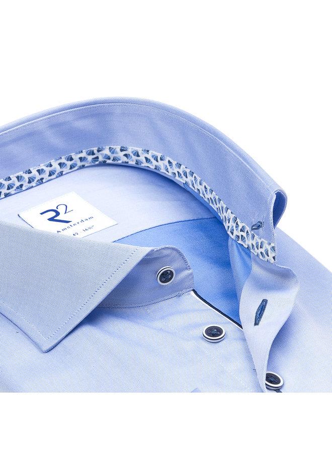 Uni Licht - Blauw Kraag Waaier - Patroon Blauw / Wit