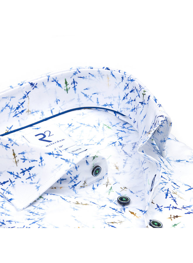 Print Fiets Turquoise/ Blauw / Wit - Bovenaanzicht