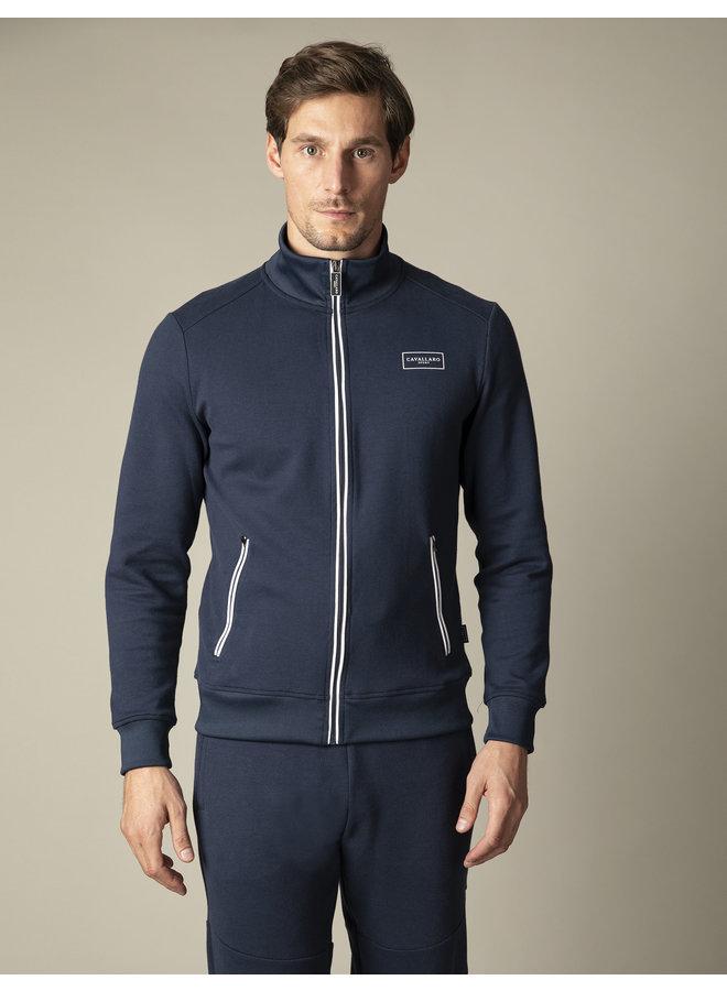 Uni Blauw Sport Zip Sweat