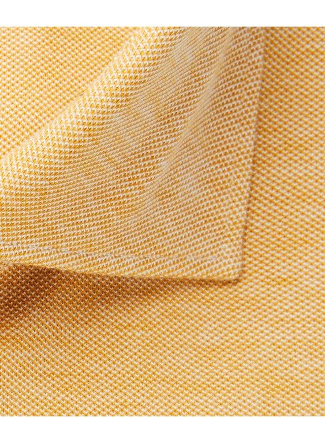 Uni Geel Melange Knitted