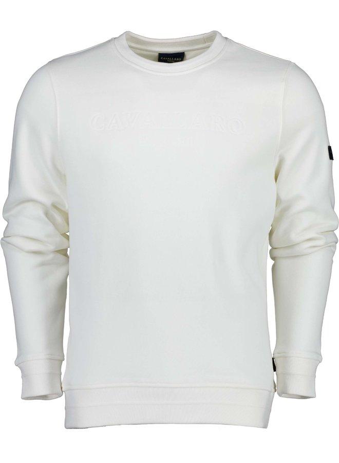 Uni Creme Sweat Logo Cavallaro