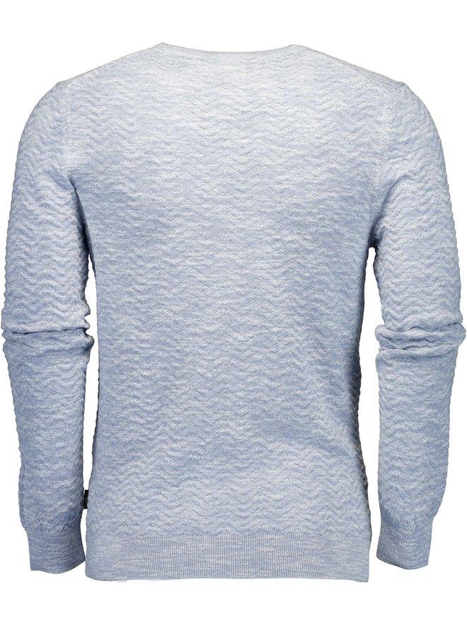 Uni Licht - Blauw Grof Breisel Pullover