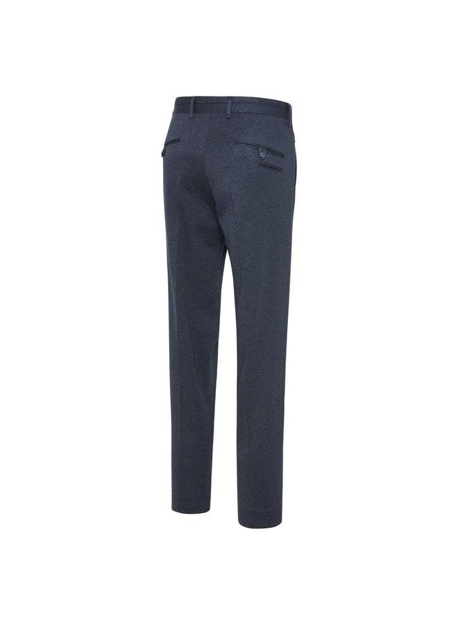 Pantalon Uni Navy / Grijs Structuur 24/7 Knitted