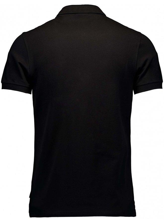 Uni Zwart Melange - Stretch