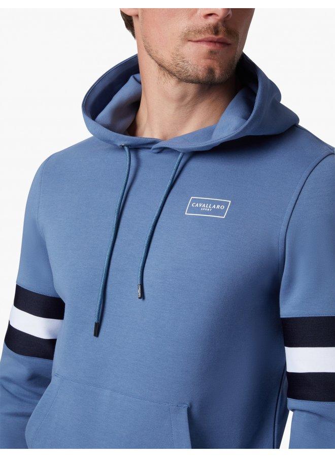 Hoodie Uni Denim - Blauw