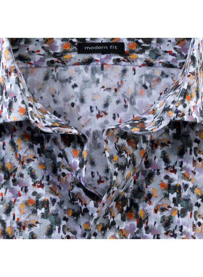 Print Oker / Geel Multi Colour - Modern Fit