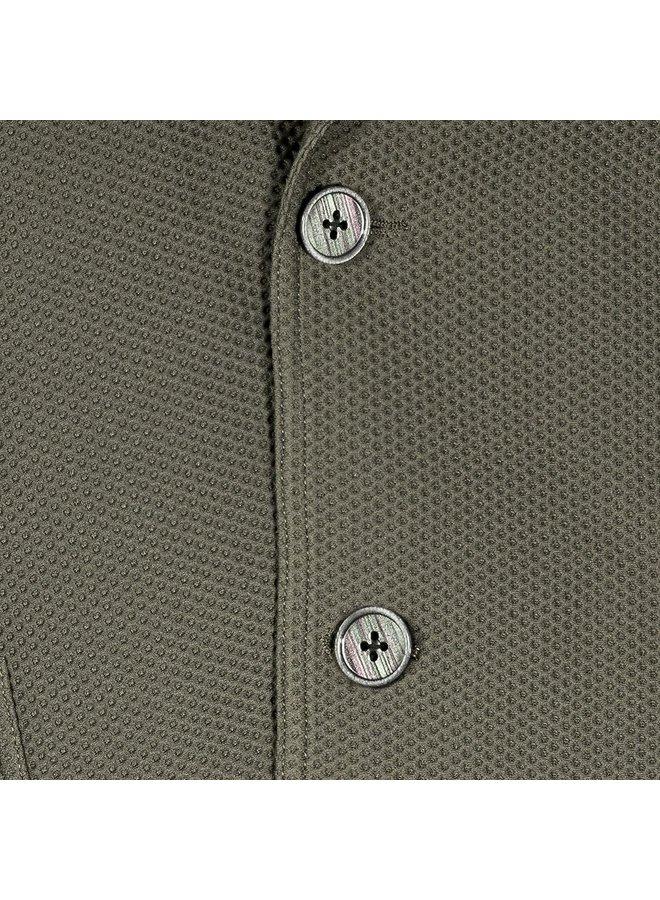Uni Donker - Groen Structuur Travel Jacket Knitted