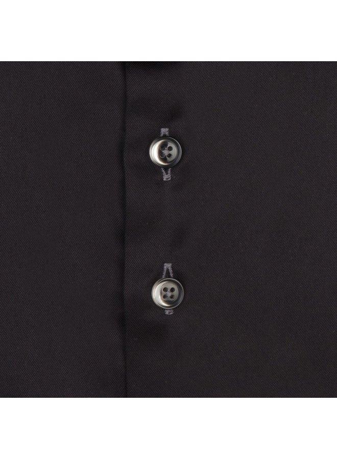 Uni Zwart Detail Grijs Satijn - Modern Fit