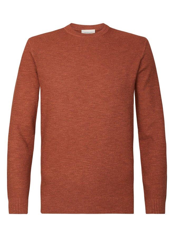 Uni Brique Structuur Garment Dye