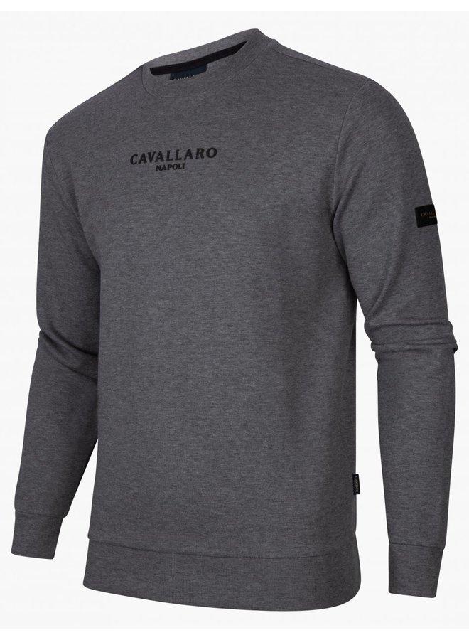 Uni Midden - Grijs - Vallone Sweat Cavallaro