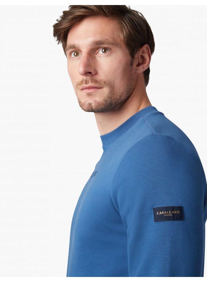 Uni Petrol - Blauw  - Vallone Sweat Cavallaro
