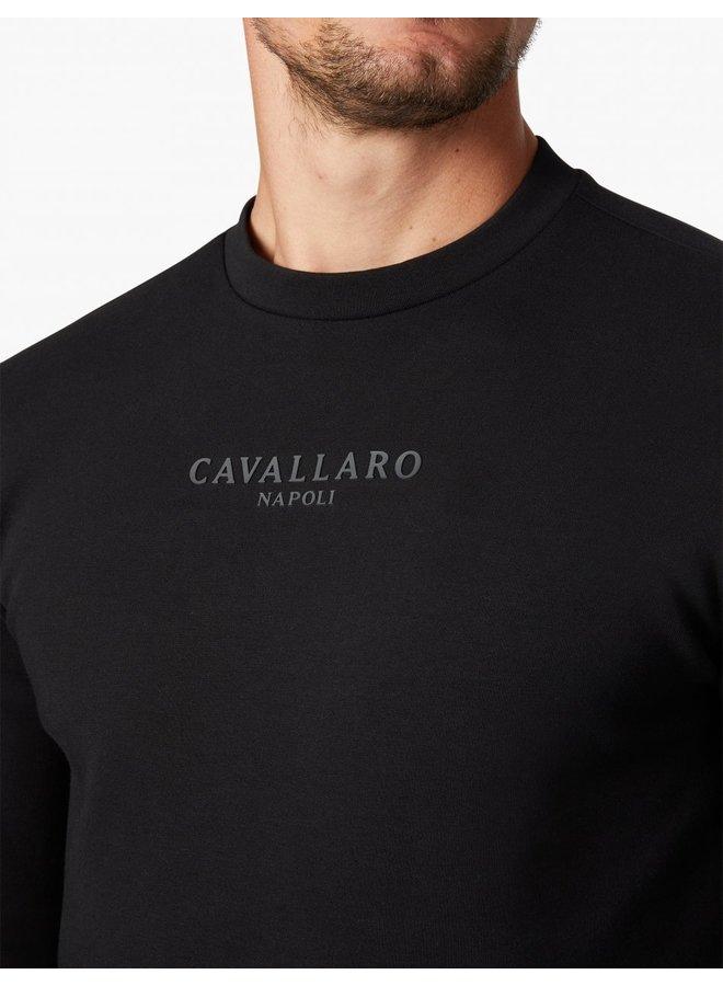 Uni Zwart - Vallone Sweat Cavallaro