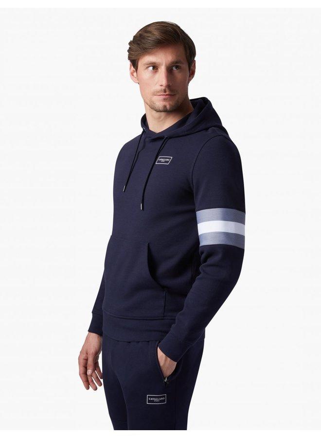 Hoodie Uni Donker - Blauw