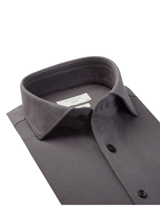 Uni Midden - Grijs Knitted Slim Fit